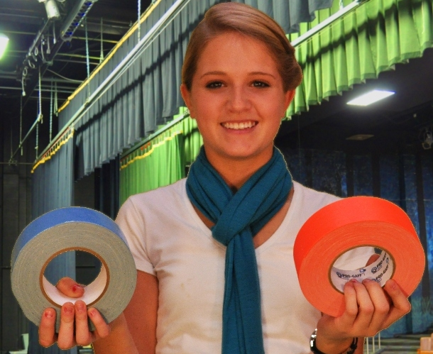 Girl Holds Gaffers Tape From TheTapeworks.com