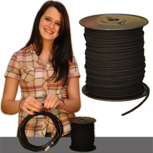 Cotton Tie Line-Black-300 FT Spool-Unglazed #4 - Click Image to Close