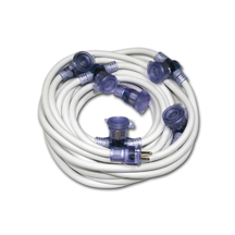 Distributed Outlet White Extension Cord