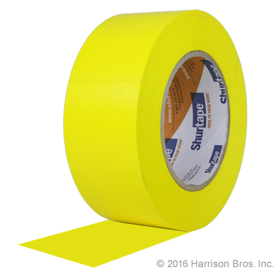 P047, Gym Floor Tape Yellow 2 IN X 60 YD Shurtape 724