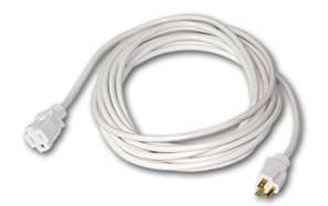 Single Outlet White Extension Cord